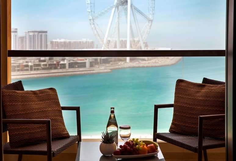 Amwaj Rotana - Jumeirah Beach Residence, Dubajus, Aukštesnės klasės kambarys, 1 labai didelė dvigulė lova, vaizdas į jūrą, Balkonas
