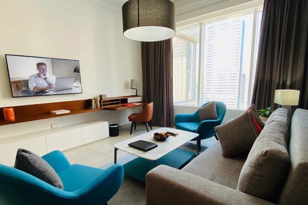 พรีเมียร์อพาร์ทเมนท์, 2 ห้องนอน, ห้องครัว - ห้องพัก