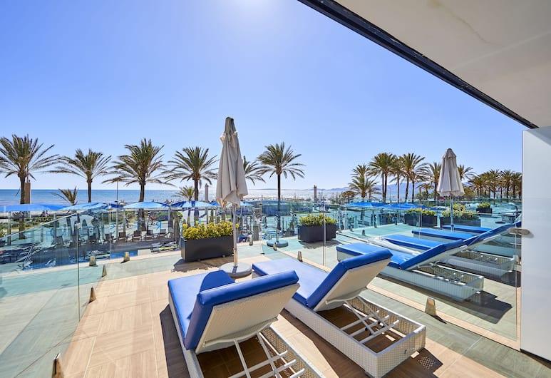 Hotel Negresco - Adults Only, Playa de Palma, Superior - kahden hengen huone, Terassi, Merinäköala, Terassi/patio