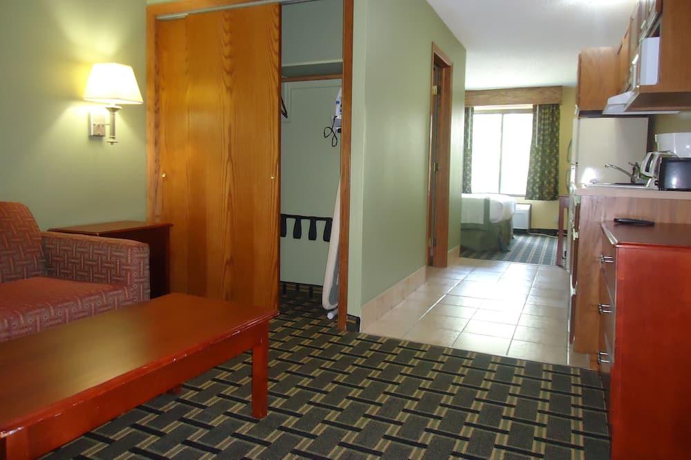 Люкс «Эконом», 1 двуспальная кровать «Квин-сайз» - Зона гостиной