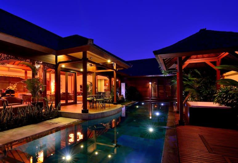 Disini Villa, Seminyak, Family Villa, 3 Yatak Odası, Kişiye Özel Havuzlu, Oda manzarası
