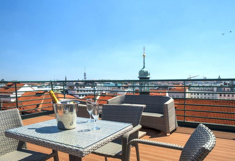 Hotel Leon D´Oro, Praga, Suíte, Terraço, Vista (do quarto)