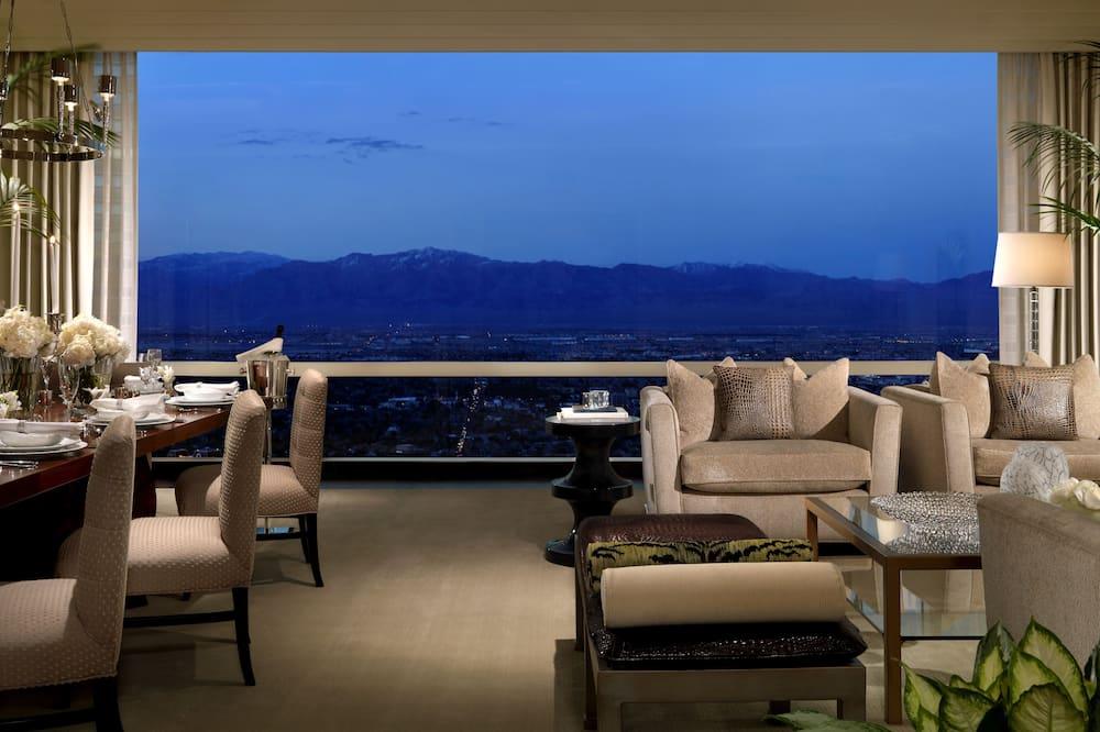 Penthouse, 3 habitaciones - Sala de estar