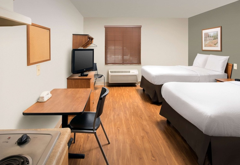 WoodSpring Suites Indianapolis Plainfield, Plainfield, Standard Room, 2 Katil Kelamin (Double), Non Smoking, Bilik Tamu