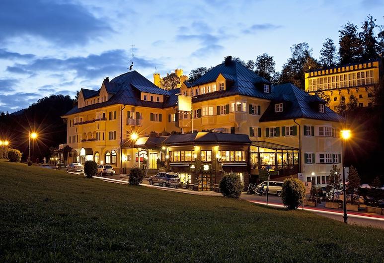 Hotel Müller Hohenschwangau, Швангау, Фасад готелю (вечір/ніч)