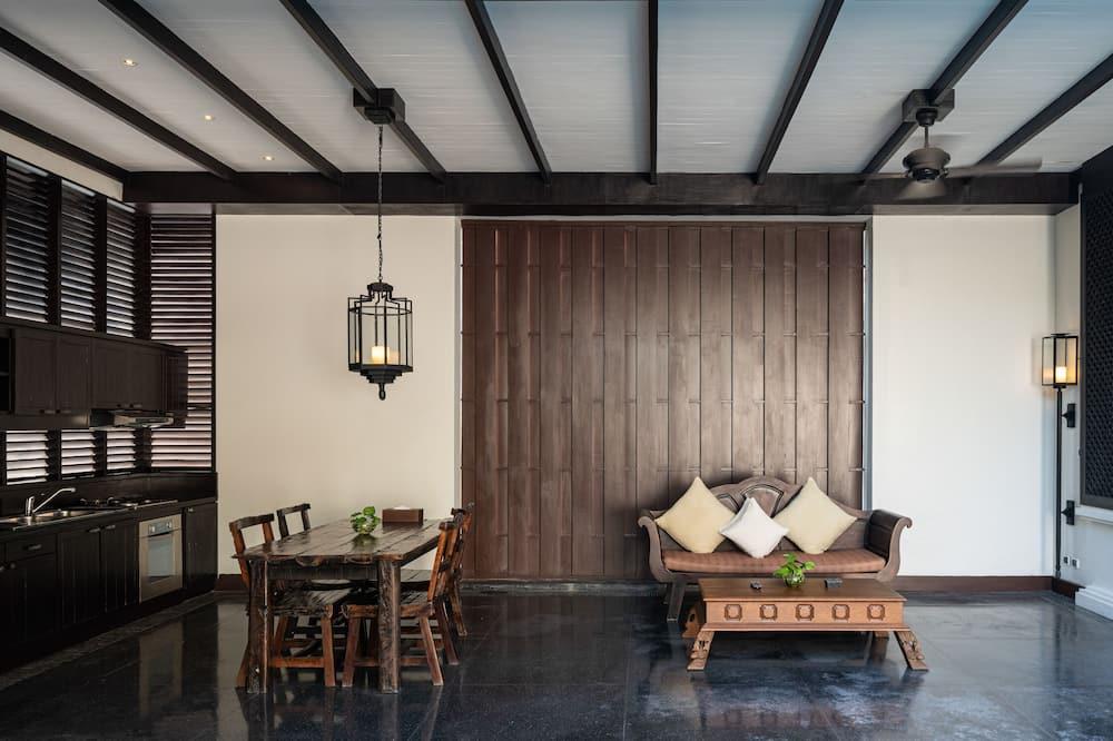Grand Villa, 1 Bedroom, Private Pool, Pool View - Living Area