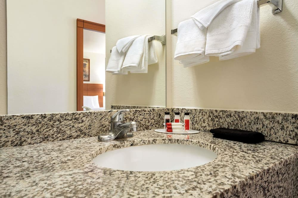 룸, 더블침대 2개, 금연 - 욕실
