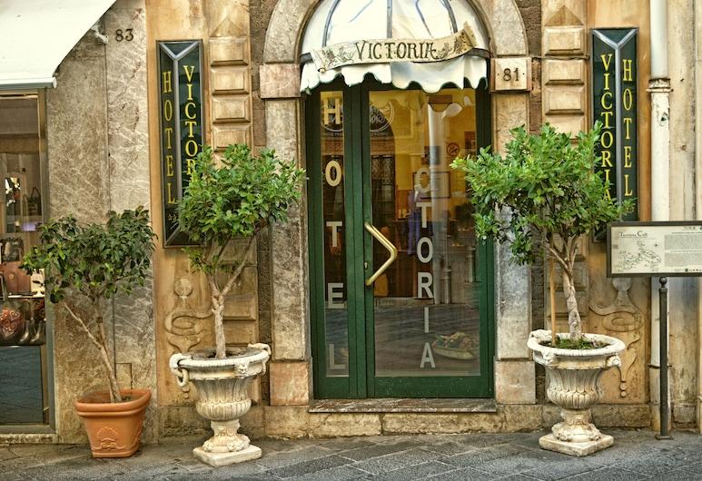 Hotel Victoria, Taormina, Ingang van hotel