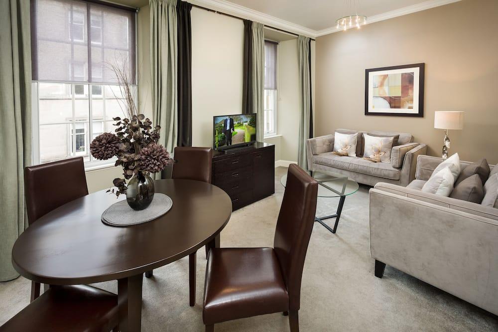 Apartmán, 2 ložnice (4 Adults - West Nicolson Street) - Obývací pokoj