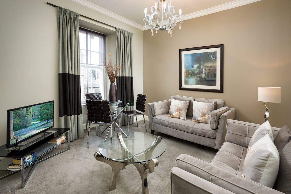 Apartmán, 2 ložnice (3 Adults - West Nicolson Street) - Obývací pokoj