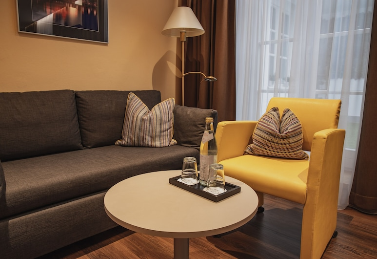 Hotel Residenz Passau, Passau, Herbergi með tvíbreiðu rúmi - verönd, Stofa