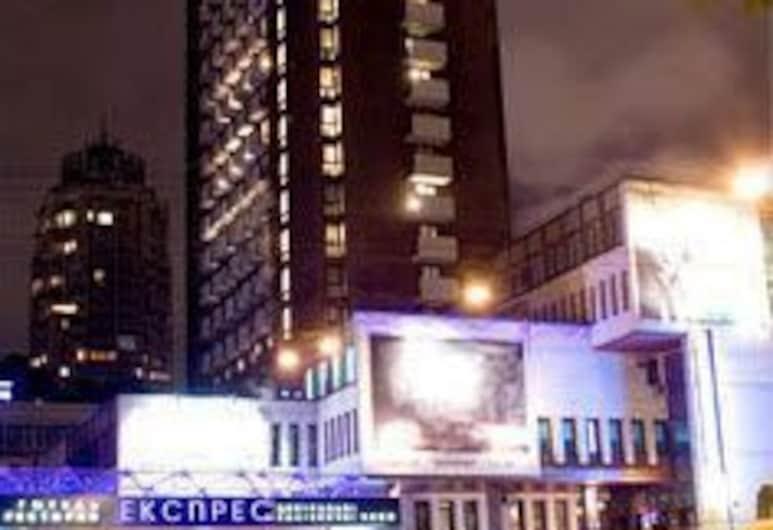 Express hotel, Kyiv, Voorkant hotel - avond/nacht