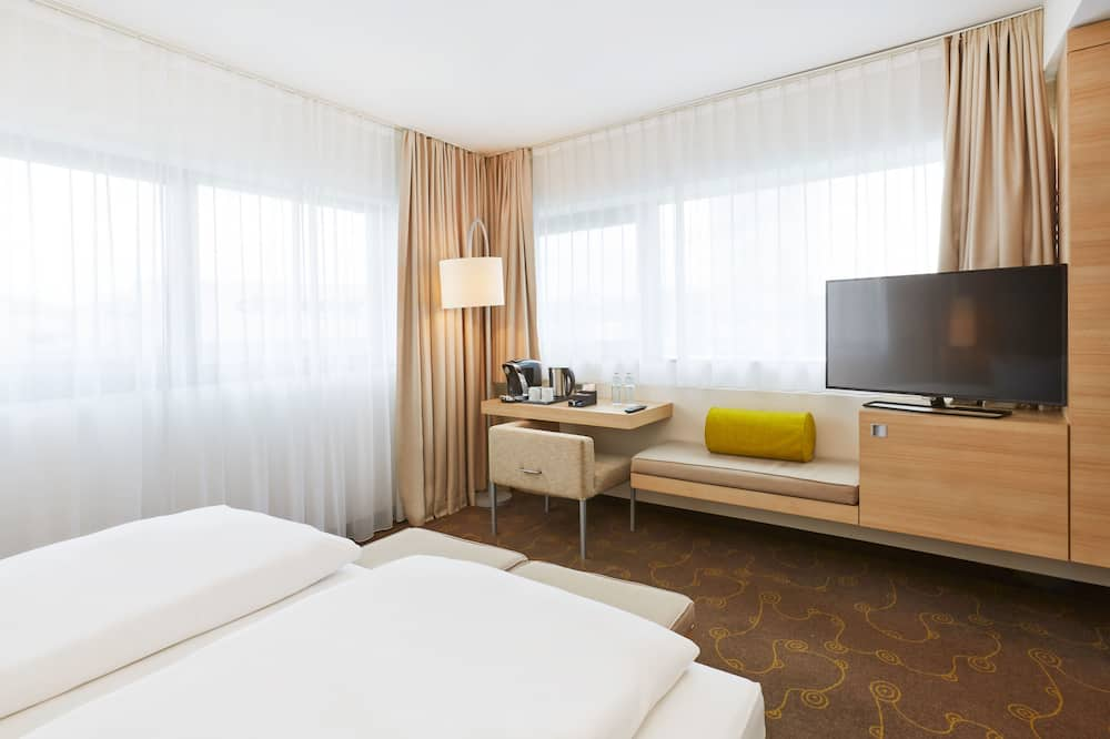Quarto Duplo Empresarial, 2 camas individuais - Área de Estar