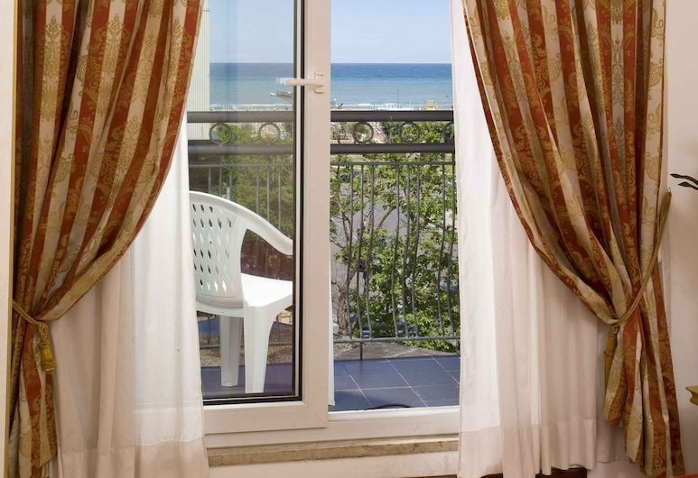 國王飯店, Rimini, 雙人或雙床房, 陽台, 客房景觀