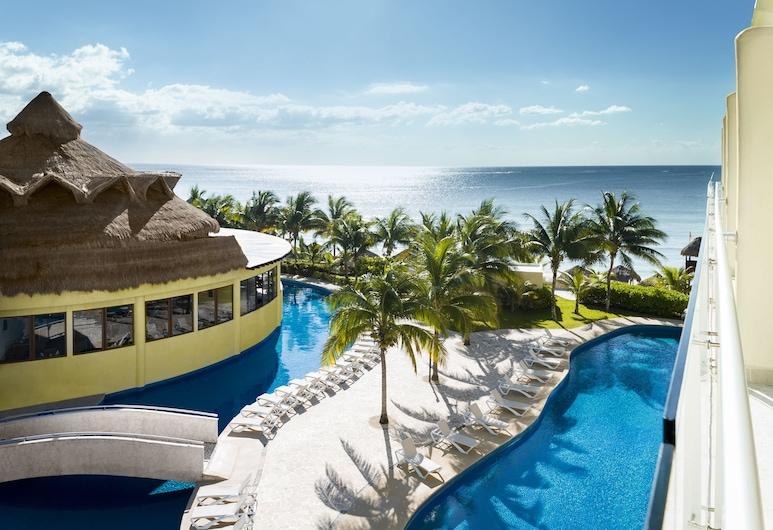 Azul Beach Resort Riviera Cancun, Gourmet All Inclusive by Karisma, Пуерто-Морелос, Розкішний номер-люкс, ванна з гідромасажем, з видом на океан, Вид з номера