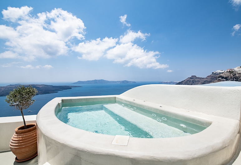 Pantelia Suites, ซานโตรินี, Pantelia Suite Caldera View (Hot tub), ห้องพัก