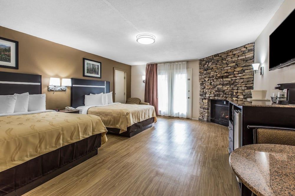Standard szoba, 2 queen (nagyméretű) franciaágy, nemdohányzó, kandalló (No Pets) - Vendégszoba