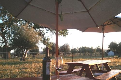 オリーブの果樹園に囲まれたプライベートホーム、屋外暖炉付きの素晴らしいパティオ、/