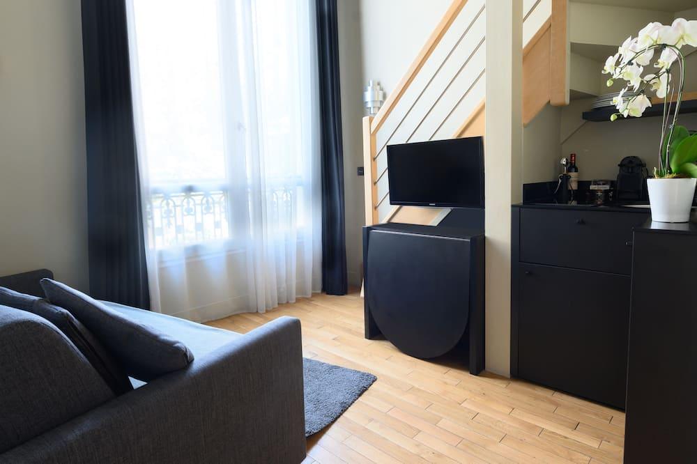 Luksusa numurs, viena guļamistaba, virtuvīte - Dzīvojamā istaba