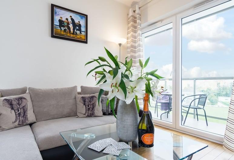Elite Apartments Albatros Towers, Gdansk, Apartment, 1 Bedroom, Living Room