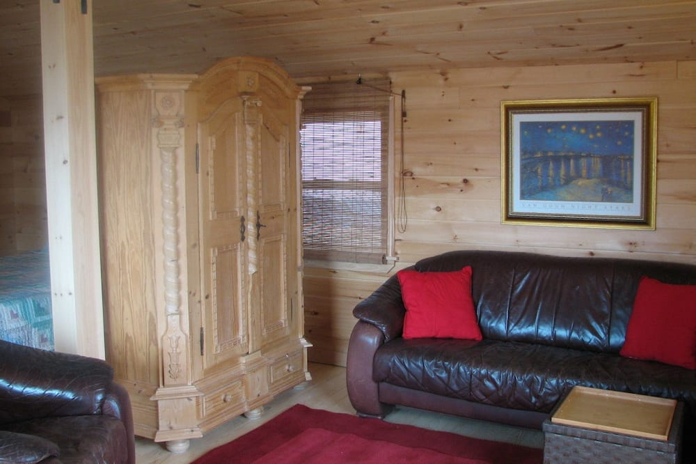 Романтический шале, 1 спальня, вид на океан, с выходом к океану - Зона гостиной