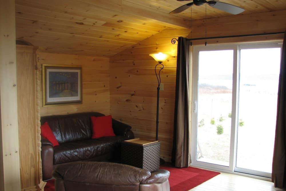 Романтический шале, 1 спальня, вид на океан, с выходом к океану - Гостиная