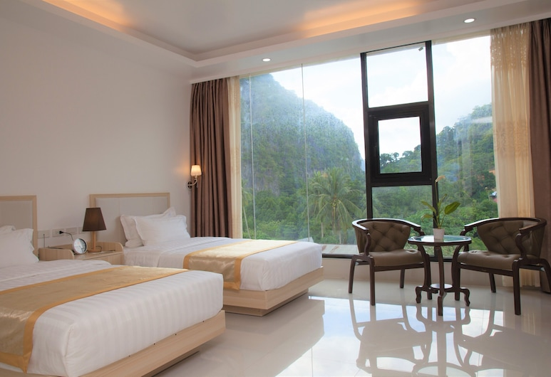 One El Nido Suite, El Nido, Premier kamer, 2 eenpersoonsbedden (Superior), Uitzicht op bergen
