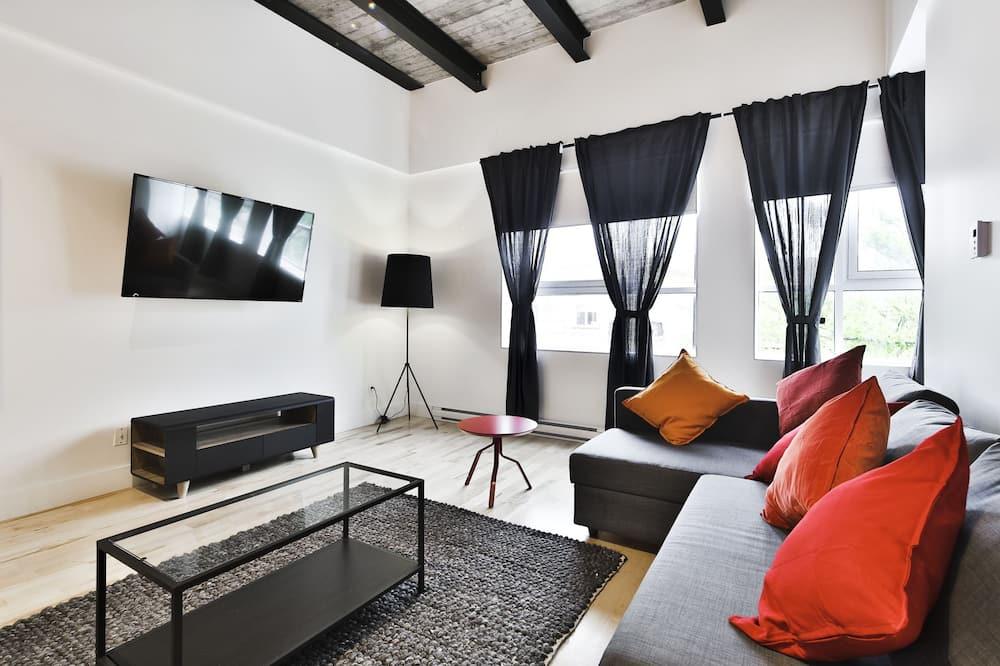 Darījumklases dzīvokļnumurs, trīs guļamistabas, nesmēķētājiem, skats uz kalniem - Dzīvojamā zona