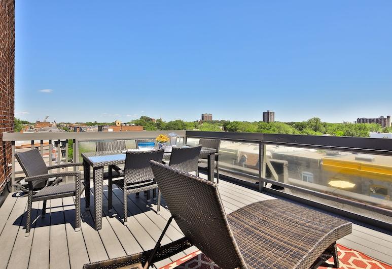 Les Lofts du Mont Royal, Montreal, Panorámás penthouse, 2 hálószobával, nemdohányzó, kilátással a parkra, Szoba