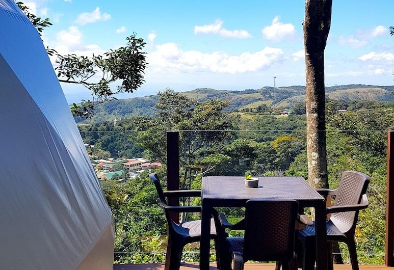 Chira Glamping Monteverde, Monteverde, Tenda de Luxo, 1 cama queen-size, Terraço/Pátio Interior