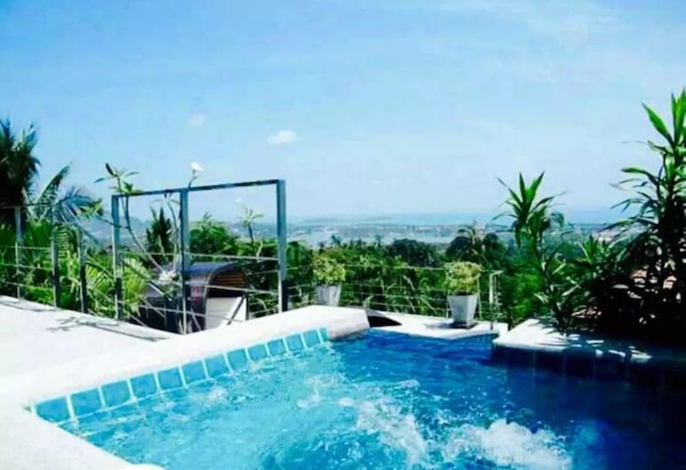 查汶 4 房 1 號海景別墅酒店, 蘇梅島, 室外泳池