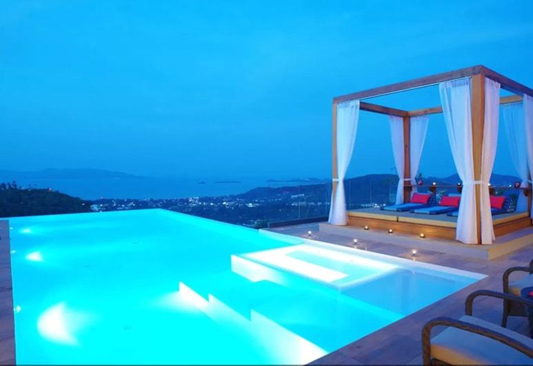 9 房藍色海景別墅酒店, 蘇梅島, 室外泳池