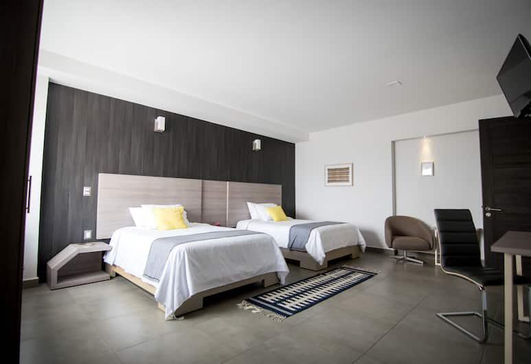 マリア イネス ホテル スイート, オアハカ, ジュニア スイート ダブルベッド 2 台, 客室