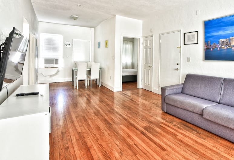 Pellicano Suites Miami Beach, Miami Beach, Dizajnový apartmán, 2 spálne, 2 kúpeľne, Obývacie priestory