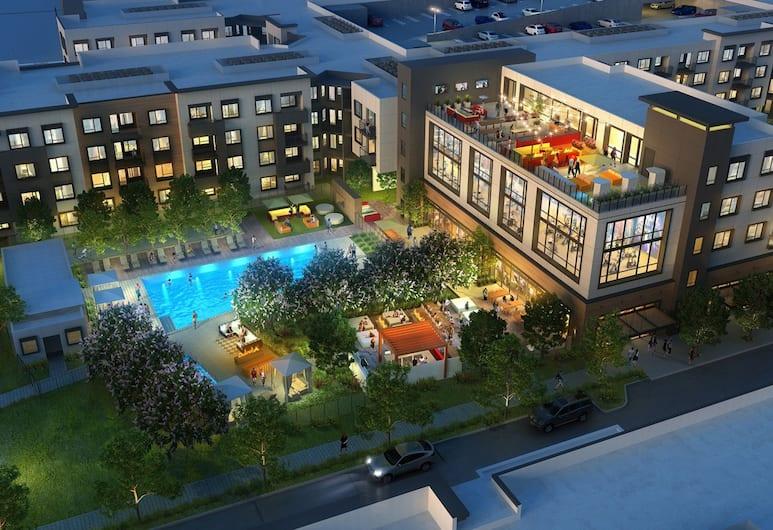 Global Luxury Suites in Menlo Park, Menlo Park, Kolam Renang Luar Ruangan