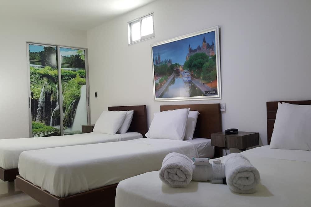 Trivietis kambarys, 3 viengulės lovos - Svečių kambarys