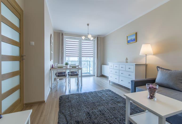 Rent a Flat Apartments - Jana Pawla II, Gdansk, City Apartment, 1 Bedroom, Balcony, Ruang Tamu