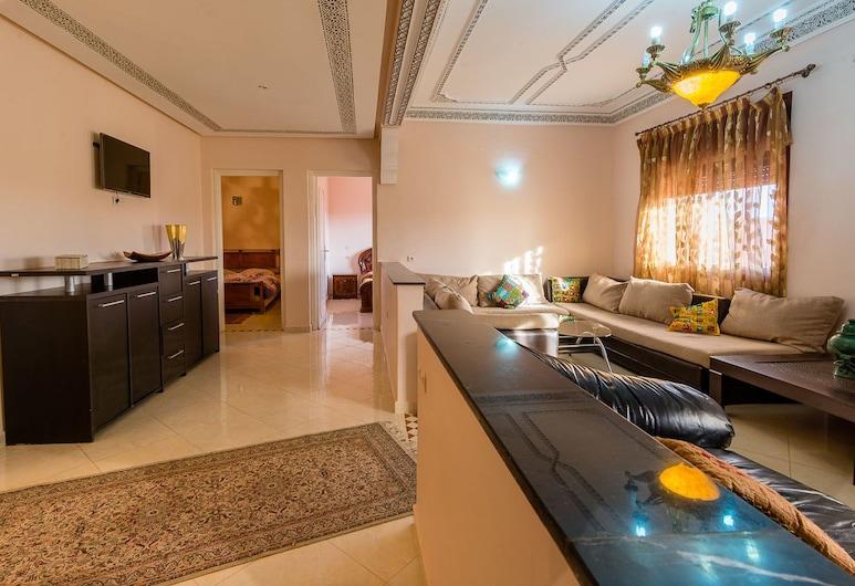 Residence Bab El Janoub, Ouarzazate, Comfort-Apartment, 2Schlafzimmer, Wohnbereich