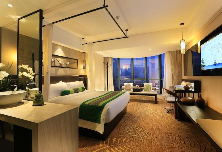 Relaxed Season Hotel Shenzhen Dongmen Branch, Shenzhen, Deluxe Room, 1 Katil Ratu (Queen), Refrigerator, City View, Bilik Tamu