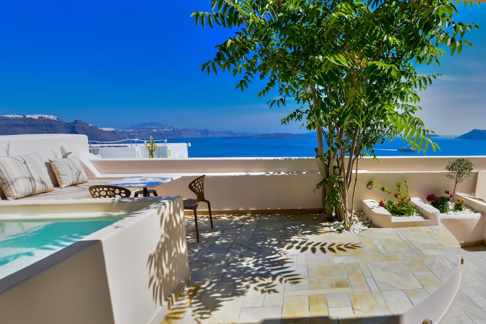 Vila, 3 kamar tidur (2 Outdoor Hot Tubs & Caldera View) - Teras/Patio