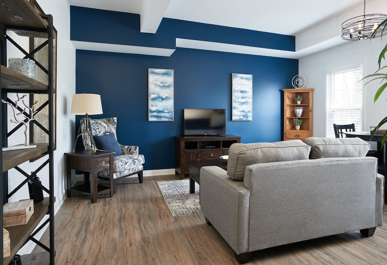 Vine Village Apartments, Niagara-on-the-Lake, Deluxe-Apartment, 1 Queen-Bett, Zimmer