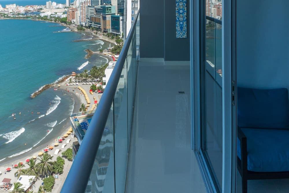 Apartemen Deluks, 2 kamar tidur, pemandangan samudra - Balkon