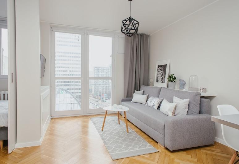 ShortStayPoland Grzybowska (B29), Warszawa, Lägenhet - 1 sovrum - utsikt mot staden, Vardagsrum