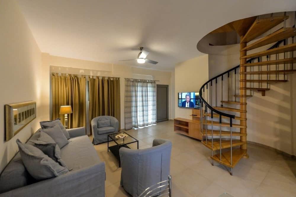 Apartmán, 2 ložnice, výhled na moře - Obývací prostor