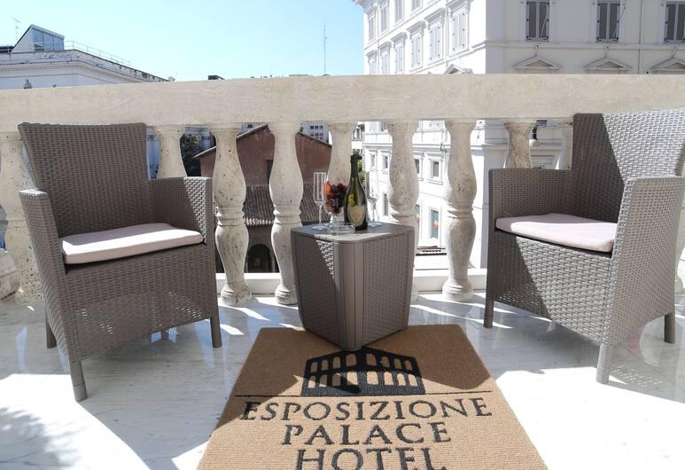 Esposizione Palace Hotel, Roma, Suite, balcone, vista città, Balcone