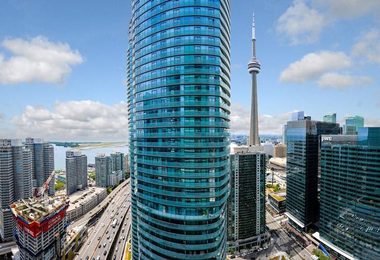 Platinum Suites - Scotia Bank Arena, Toronto, Luksus-lejlighed - 1 queensize-seng med sovesofa - balkon - byudsigt, Altan