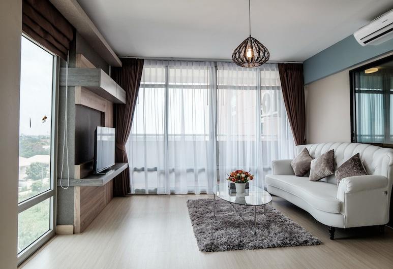 Riviera Service At Muangtongtani, Pak Kret, Basic dvokrevetna soba, 2 bračna kreveta, Dnevni boravak