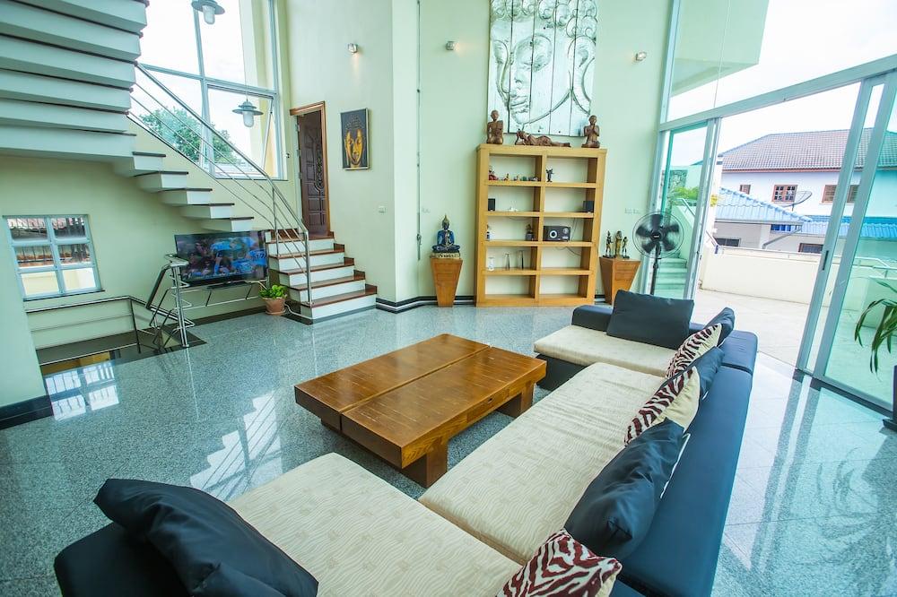 Villa Premium, 5 chambres, accès piscine - Coin séjour