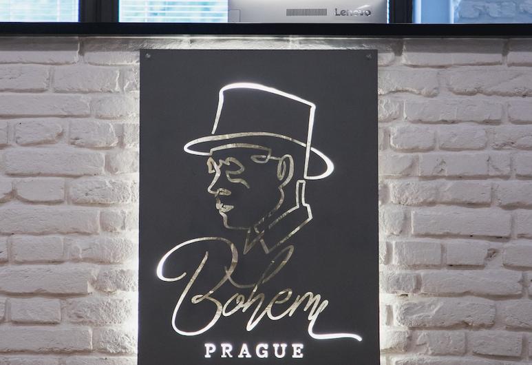 Bohem Prague Hotel, Prague, Reception