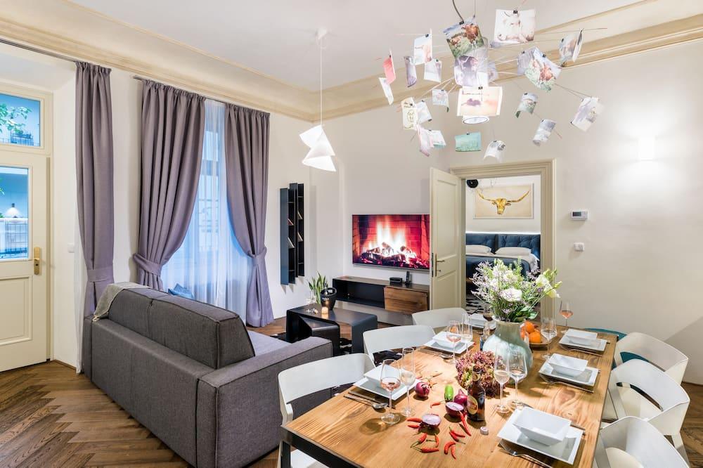 Apartmán, 2 ložnice - Obývací prostor